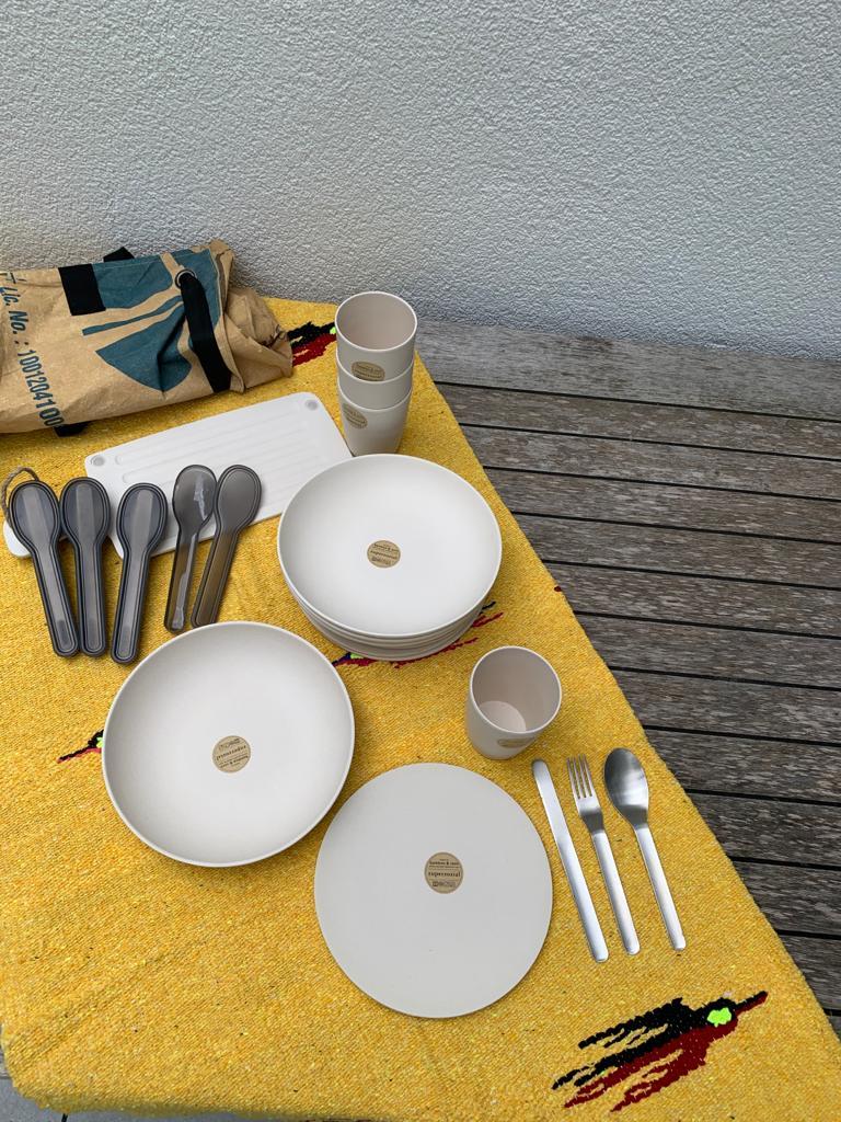 Basic Set für 4 Personen Gelb
