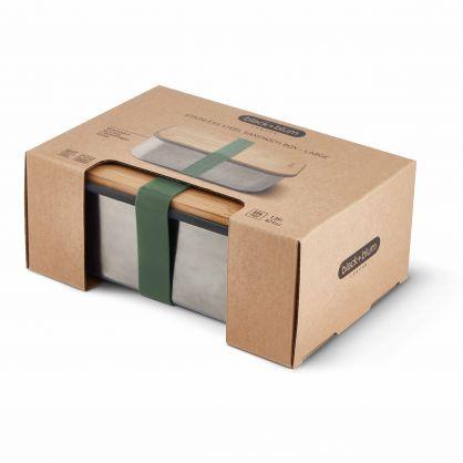 Edelstahl Lunch Box 1250 ml Olive