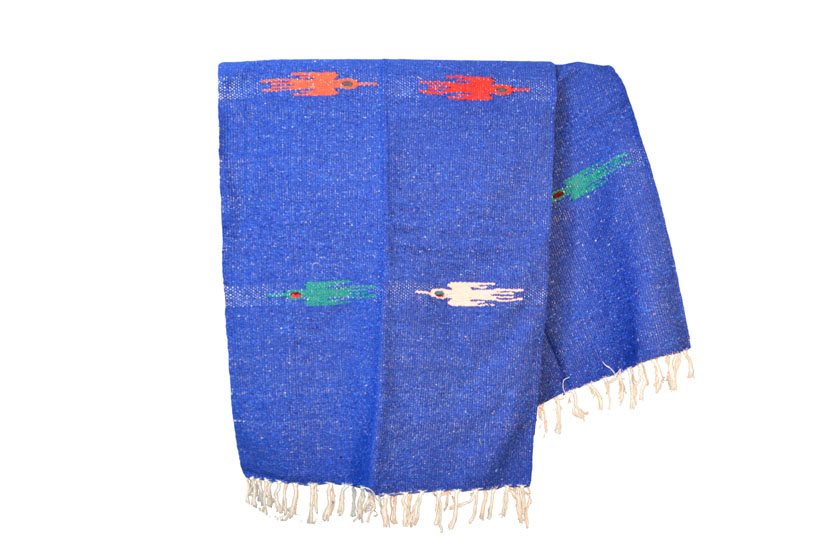 Handgewebte einfarbige Decke